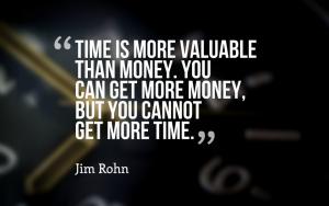 tijd is kostbaarder dan geld
